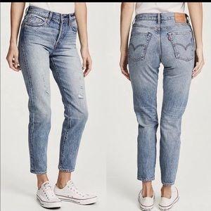 NWT LEVIS wedgie fit selvedge hem jeans SIZE 27